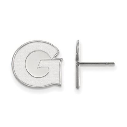 Picture of Georgetown University Hoyas 10k White Gold Small Post Earrings