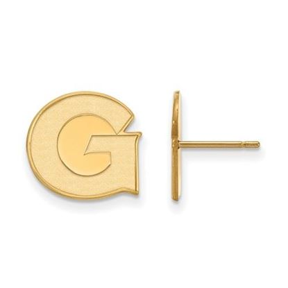 Picture of Georgetown University Hoyas Sterling Silver Gold Plated Small Post Earrings