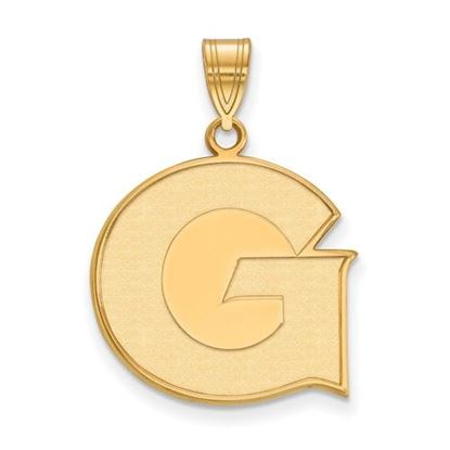 Picture of Georgetown University Hoyas Sterling Silver Gold Plated Large Pendant