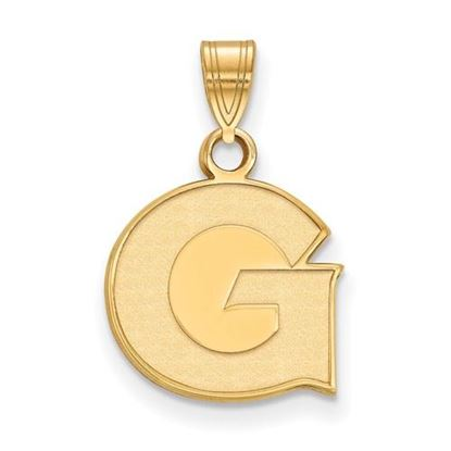 Picture of Georgetown University Hoyas Sterling Silver Gold Plated Small Pendant