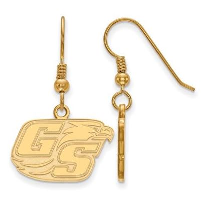 Picture of Georgia Southern University Eagles Sterling Silver Gold Plated Small Dangle Earrings