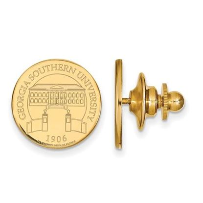 Picture of Georgia Southern University Eagles 14k Yellow Gold Crest Disc Lapel Pin