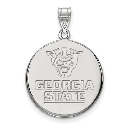 Picture of Georgia State University Panthers 10k White Gold Large Disc Pendant