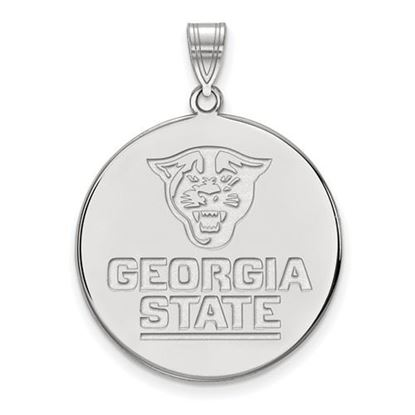 Picture of Georgia State University Panthers 14k White Gold Extra Large Disc Pendant