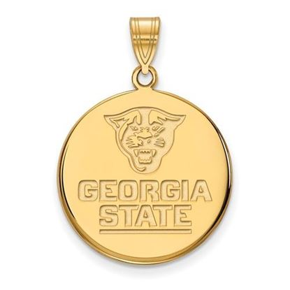 Picture of Georgia State University Panthers 14k Yellow Gold Large Disc Pendant