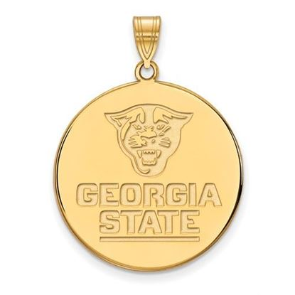 Picture of Georgia State University Panthers Sterling Silver Gold Plated Extra Large Disc Pendant
