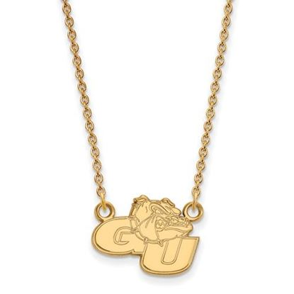 Picture of Gonzaga University Bulldogs 10k Yellow Gold Small Necklace
