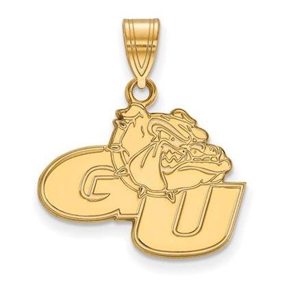 Picture of Gonzaga University Bulldogs 14k Yellow Gold Medium Pendant