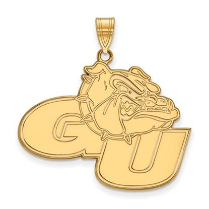 Picture of Gonzaga University Bulldogs Sterling Silver Gold Plated Extra Large Pendant