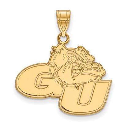 Picture of Gonzaga University Bulldogs Sterling Silver Gold Plated Large Pendant
