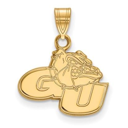 Picture of Gonzaga University Bulldogs Sterling Silver Gold Plated Small Pendant