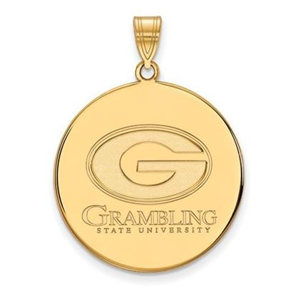 Picture of Grambling State University Tigers Sterling Silver Gold Plated Extra Large Disc Pendant