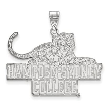 Picture of Hampden-Sydney College Tigers 10k White Gold Extra Large Pendant