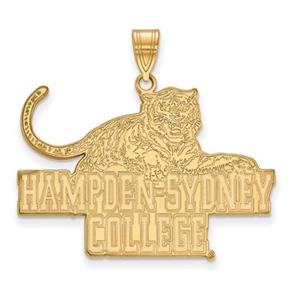 Picture of Hampden-Sydney College Tigers 10k Yellow Gold Extra Large Pendant