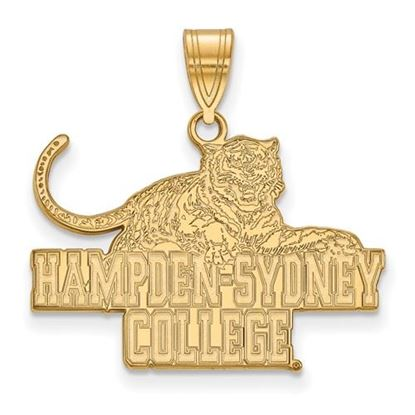 Picture of Hampden-Sydney College Tigers 14k Yellow Gold Large Pendant