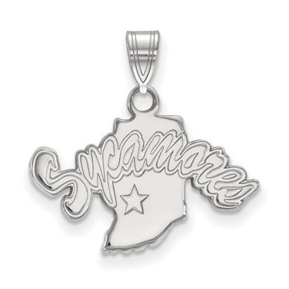 Picture of Indiana State University Sycamores 14k White Gold Small Pendant