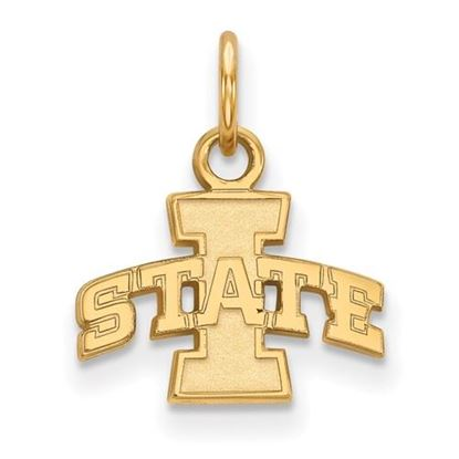Picture of Iowa State University Cyclones Sterling Silver Gold Plated Extra Small Pendant