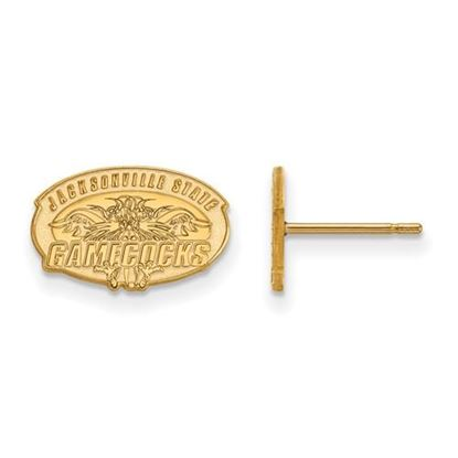 Picture of Jacksonville State University Gamecocks 10k Yellow Gold Extra Small Post Earrings
