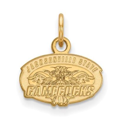 Picture of Jacksonville State University Gamecocks 14k Yellow Gold Extra Small Pendant