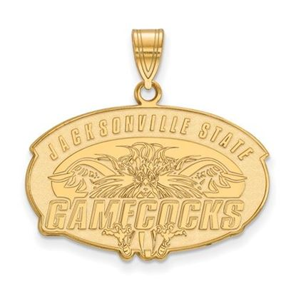 Picture of Jacksonville State University Gamecocks Sterling Silver Gold Plated Large Pendant