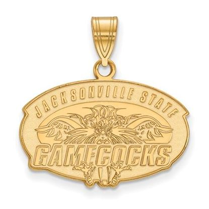 Picture of Jacksonville State University Gamecocks Sterling Silver Gold Plated Medium Pendant