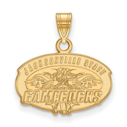Picture of Jacksonville State University Gamecocks Sterling Silver Gold Plated Small Pendant