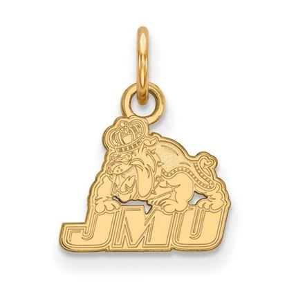 Picture of James Madison University Dukes Sterling Silver Gold Plated Extra Small Pendant