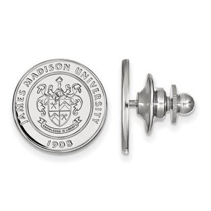 Picture of James Madison University Dukes 14k White Gold Crest Lapel Pin