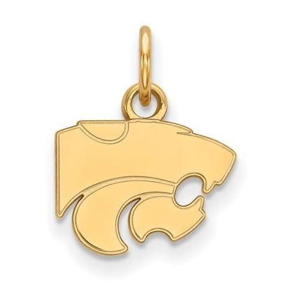Picture of Kansas State University Wildcats Sterling Silver Gold Plated Extra Small Pendant