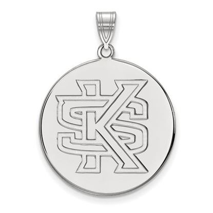 Picture of Kennesaw State University Owls 10k White Gold Extra Large Disc Pendant