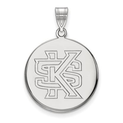 Picture of Kennesaw State University Owls 10k White Gold Large Disc Pendant