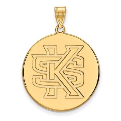 Picture of Kennesaw State University Owls 10k Yellow Gold Extra Large Disc Pendant