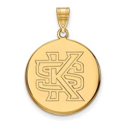 Picture of Kennesaw State University Owls 10k Yellow Gold Large Disc Pendant