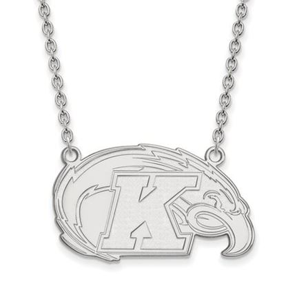 Picture of Kent State University Golden Flashes 10k White Gold Large Necklace