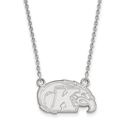 Picture of Kent State University Golden Flashes 10k White Gold Small Necklace