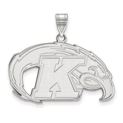 Picture of Kent State University Golden Flashes 10k White Gold Large Pendant