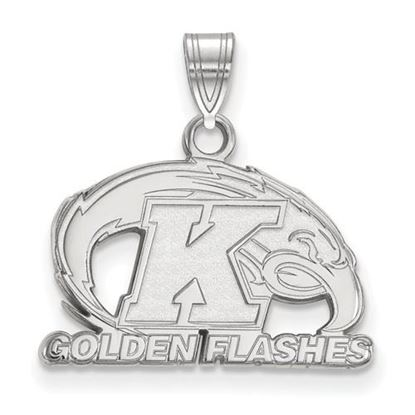 Picture of Kent State University Golden Flashes 10k White Gold Small Pendant