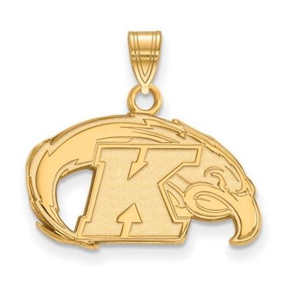 Picture of Kent State University Golden Flashes Sterling Silver Gold Plated Small Pendant