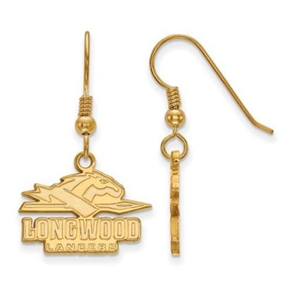 Picture of Longwood University Lancers Sterling Silver Gold Plated Small Dangle Earrings
