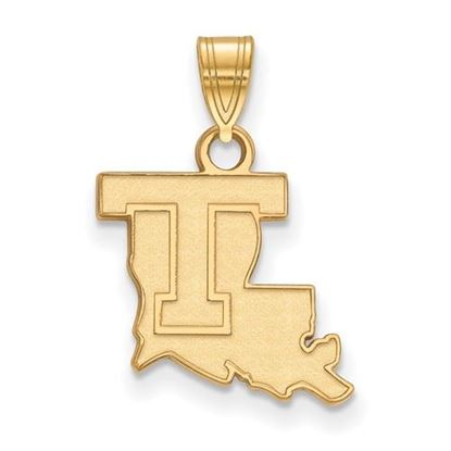 Picture of Louisiana Tech University Bulldogs Sterling Silver Gold Plated Small Pendant