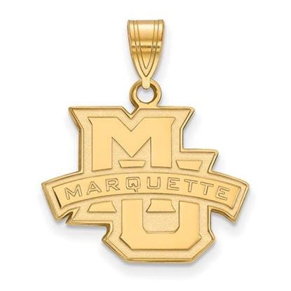 Picture of Marquette University Golden Eagles Sterling Silver Gold Plated Medium Pendant