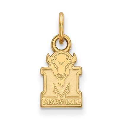 Picture of Marshall University Thundering Herd Sterling Silver Gold Plated Extra Small Pendant