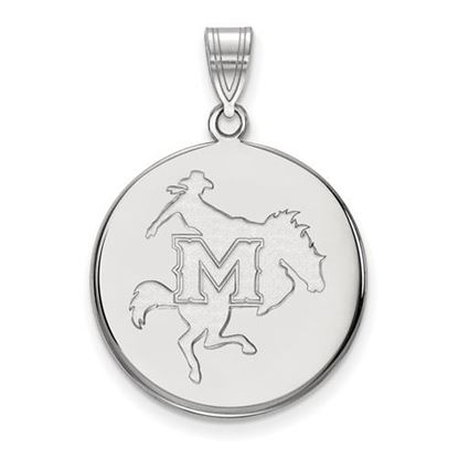 Picture of McNeese State University Cowboys 14k White Gold Large Disc Pendant