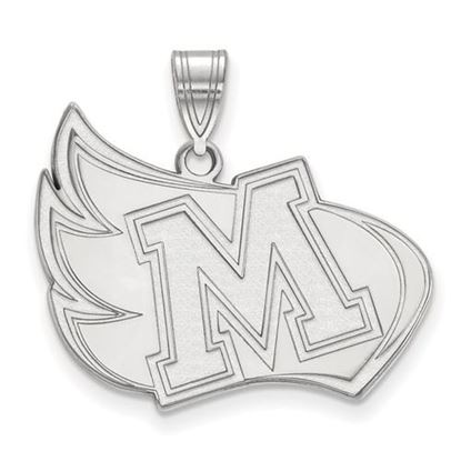 Picture of Meredith College Avenging Angels 10k White Gold Extra Large Pendant