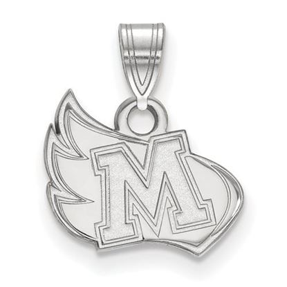 Picture of Meredith College Avenging Angels 10k White Gold Small Pendant