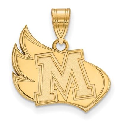 Picture of Meredith College Avenging Angels Sterling Silver Gold Plated Large Pendant