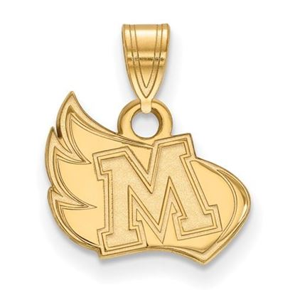 Picture of Meredith College Avenging Angels Sterling Silver Gold Plated Small Pendant
