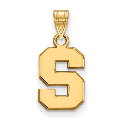 Picture of Michigan State University Spartans Sterling Silver Gold Plated Small Pendant