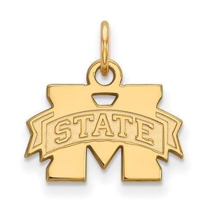 Picture of Mississippi State University Bulldogs Sterling Silver Gold Plated Extra Small Pendant