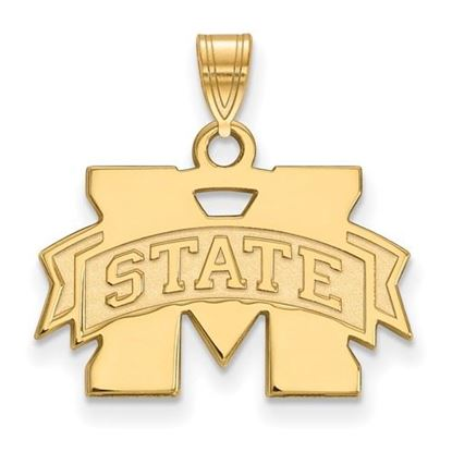 Picture of Mississippi State University Bulldogs Sterling Silver Gold Plated Small Pendant